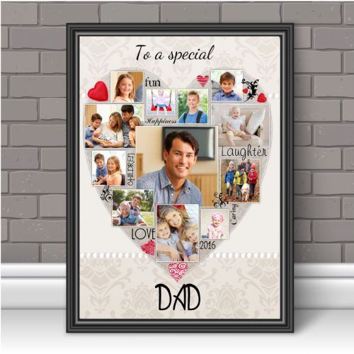 Personalised Special Dad Photo Poster Print Word Art Keepsake Gift N125 Unframed